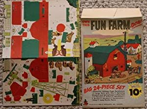 OWN THIS FUN FARM TOY! - BIG 24-PIECE SET (3-D Puzzle Game;from the Dime Line Series.; Un-used Ga...