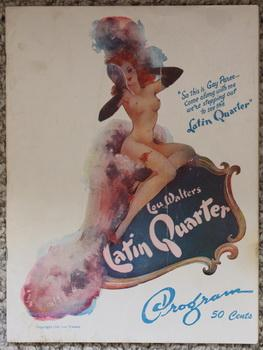 LOU WALTERS' LATIN QUARTER: Program - Packed with Show Girl Photos;