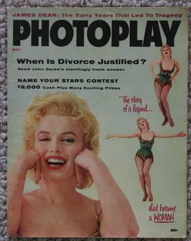 PHOTOPLAY, October 1956 Marilyn Monroe Cover.; Story: Spring, Byington, Mary