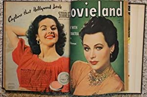 MOVIELAND MAGAZINE - January to June/ 1944 (bond in Hard covers); January 1944; February/1944; Ma...