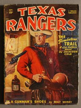 TEXAS RANGERS, (Jim Hatfield)(Western Pulp magazine). - September, 1948. The Tombstone Trail // T...