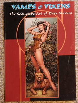 Vamps & Vixens. The Seductive Art of Dave Stevens. - Betty Page Front Cover;