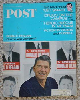 1966: June 4 issue of Saturday Evening Post Magazine with Ronald Reagan Cover Photo Plus Maxwell ...