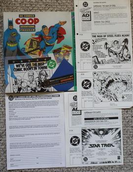 DC COMICS CO-OP ADVERTISING PROGRAM BINDER.