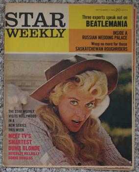STAR WEEKLY - September 5/1964; Photo Cover = Donna Douglas, Beatlemania;