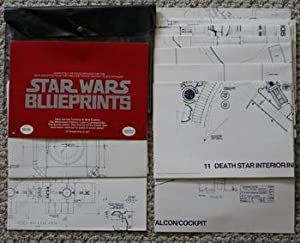 STAR WARS BLUEPRINTS; General Plans Complete Set of 15 Authentic Blueprints of the Complete Detai...
