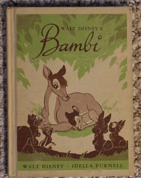 WALT DISNEY'S BAMBI (Walt Disney Studio) (1944 Hardcover The Young Prince // the Forrest Path // ...