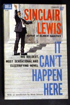 IT CAN'T HAPPEN HERE (1961; DELL Paperback #S-19; the Great, Prophetic Novel About the Coming of ...
