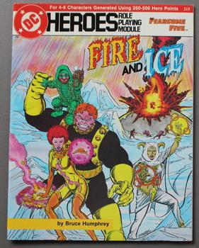 Fire and Ice - Fearsome Five. (DC Heroes Role Playing Module Game ; RPG Role-Playing Game; Role &...