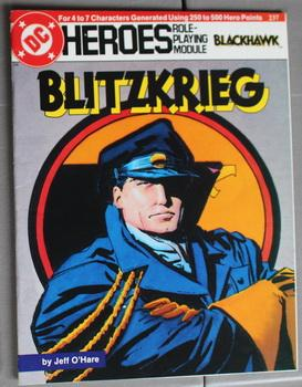 Blitzkrieg - Blackhawk. (DC Heroes Role Playing Module Game ; RPG Role-Playing Game; Role & Playi...