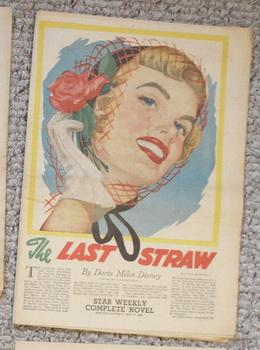 STAR WEEKLY Novel - THE LAST STRAW (aka; Driven to Kill) (MAY 21 1955 );