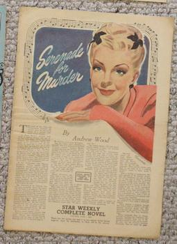 STAR WEEKLY Novel - SERENADE FOR MURDER (STAR WEEKLY NOVEL JUNE 1 1946)