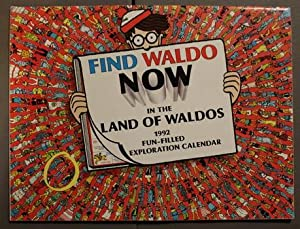 FIND WALDO NOW IN THE LAND OF WALDOS - 1992 WALL CALENDAR.