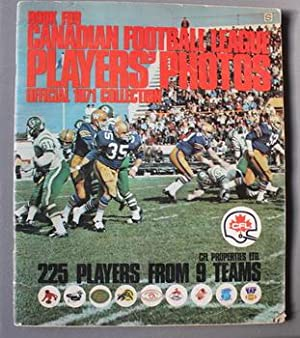 BOOK FOR CANADIAN FOOTBALL LEAGUE PLAYERS' PHOTOS - OFFICIAL 1971 COLLECTION ; Complete CFL Magaz...