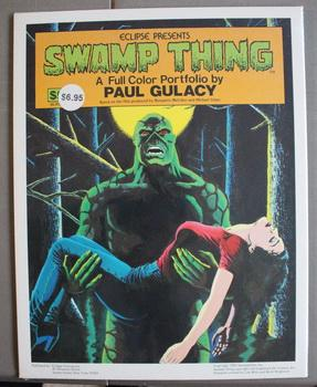 SWAMP THING a Full color portfolio , Presented By Eclipse By Paul GULACY 1983 movie Wes Craven 5 ...