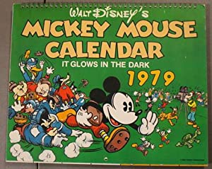 WALT DISNEY'S MICKEY MOUSE CALENDAR IT GLOWS IN THE DARK - 1979 WALL CALENDAR.