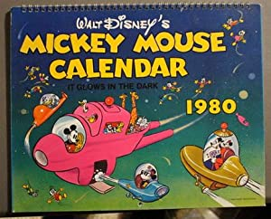 WALT DISNEY'S MICKEY MOUSE CALENDAR IT GLOWS IN THE DARK - 1980 WALL CALENDAR.