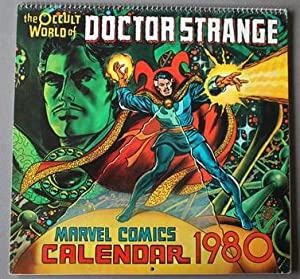 Occult World of Doctor Strange, Master of The Mystic Arts ( MARVEL COMICS 1980 Wall CALENDAR ) .