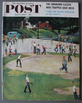 The Saturday Evening Post, vol.230, no.1, July 6, 1957 - Baseball Cover;