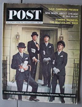 POST - the Saturday Evening Post - August 8 - August 15/1964 - Photo Cover of the Beatles; - The ...