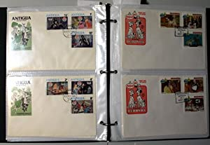 Walt Disney Animated Cartoon Stamps with Envelope; 56 first day cover Envelopes with 3 stamps on ...