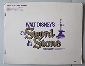 THE SWORD IN THE STONE ? SPECIAL FEATURE SERVICE from Charles Levy (1963; Production Book with 11...