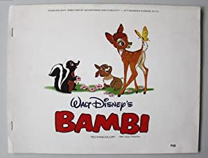 BAMBI WALT DISNEY'S - Technicolor from Charles Levy (1960's; Production Book with 7 B&W Walt Disn...