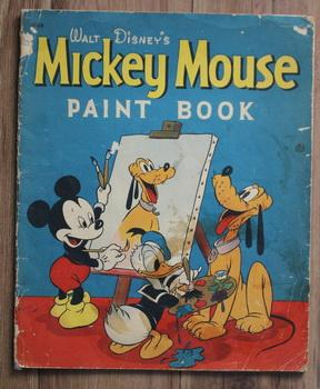 Walt Disney's Mickey Mouse Paint Book (Whitman Book # 1069; Year 1937; One Page Panel of Minnie S...