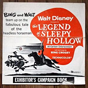 WALT DISNEY PRESENTS THE LEGEND OF SLEEPY HOLLOW EXHIBITOR'S CAMPAIGN BOOK Original (starring Bin...