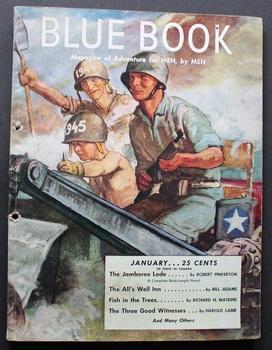 BLUE BOOK (Bedsheet Size Pulp Magazine). January: Robert Pinkerton; David