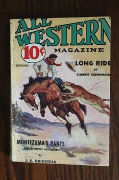 ALL WESTERN MAGAZINE (Pulp Magazine). September 1934; -- Volume 10 #29 Long Rider by Eugene Cunni...