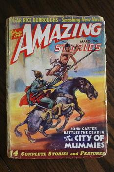 AMAZING STORIES (Pulp Magazine). March 1941; -- Volume 15 #3 The City of Mummies by Edgar Rice Bu...