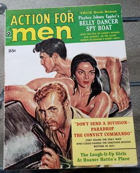 ACTION FOR MEN Adventure Magazine March 1960 Playboy Belly Dance Convict GGA