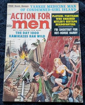 ACTION FOR MEN Adventure Magazine June 1963 Kamikazes FBI GGA Rossi Kunstler
