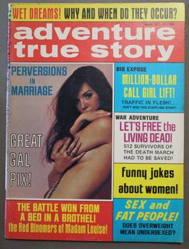 ADVENTURE TRUE STORY Men Magazine March 1971 GGA Confederacy Bataan Luftwaffe