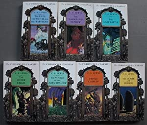 COMPLETE Set of 7 CHRONICLES OF NARNIA books = Magician's Nephew; Prince Caspian; Last Battle; Vo...