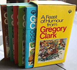 A FEAST OF (Humor) HUMOUR FROM GREGORY CLARK = BOX SET with 5 Books (included - Things That Go Sq...