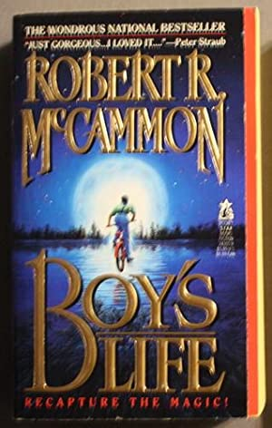 BOY'S LIFE. ( .Cover depicts a boy on a bike, jumping over a river with moon in background. )