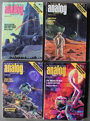 ANALOG SCIENCE FICTION -1976; January (CHILDREN OF DUNE Part 1 of 4 Parts,; 1976; February (CHILD...