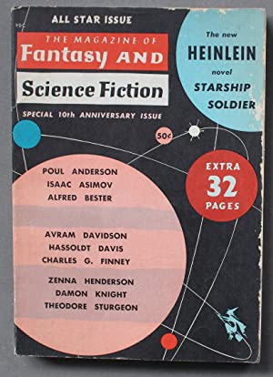 Magazine of Fantasy and Science Fiction (DIGEST) October 1959 STARSHIP SOLDIER (aka Starship Troo...