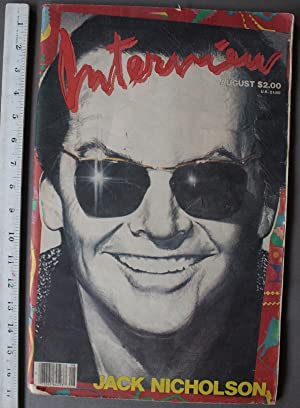 INTERVIEW Magazine 1984 August Jack Nickolson cover & article