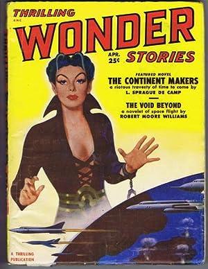 THRILLING WONDER STORIES ,April, 1951 - Vol.XXXVIII,: L. Sprague de