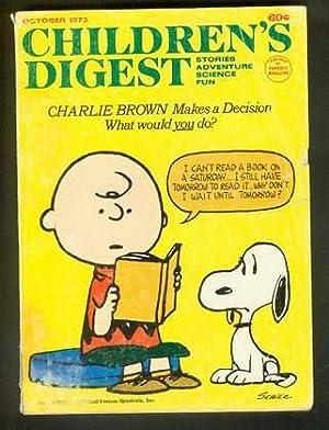 CHILDREN'S DIGEST --- October 1973; (Stories, Adventure,: Schulz, Charles M.