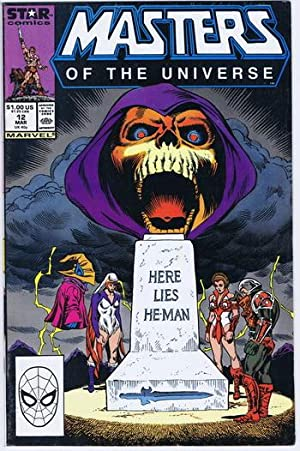 DEATH of HE-MAN with Tombstone & Funeral Cover & Story in MASTERS OF THE UNIVERSE #12 - March 198...