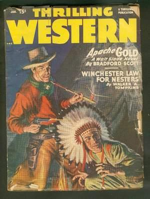 THRILLING WESTERN, Pulp magazine. January, 1948. >>: JIM MAYO (pseudonym
