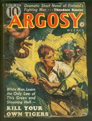 ARGOSY Pulp magazine. April 20,1940. >> Death: Whipple, Chandler. ---