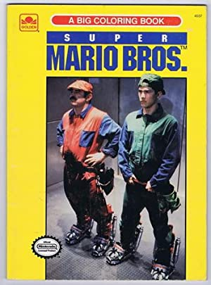 SUPER MARIO BROS. (the Movie) a Big Coloring Book #4037 (Golden Book / Western Publishing; 1993; ...