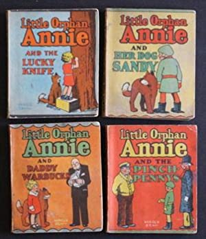 LITTLE ORPHAN ANNIE = Set of 4 different 1934 WEE LITTLE BOOKS (Mini Big Little Books) by HAROLD ...