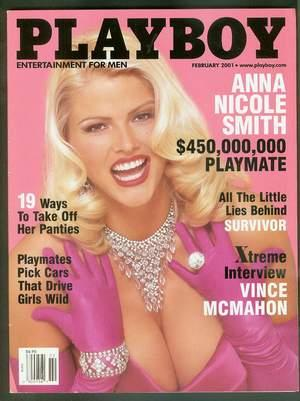 PLAYBOY Magazine - February 2001 (Volume 48 #2); >> the $450,000,000 Playmate = ANNA NICOLE ...