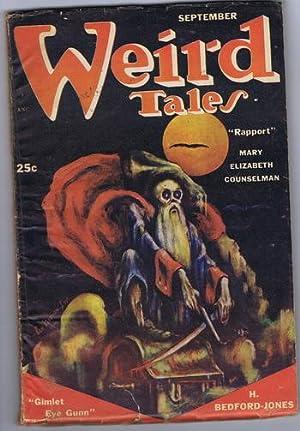 WEIRD TALES (Pulp Magazine) September 1951; Gimlet: H. Bedford-Jones; Clark